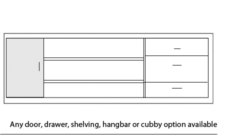 custom counter options drawers cubbies shelving 2
