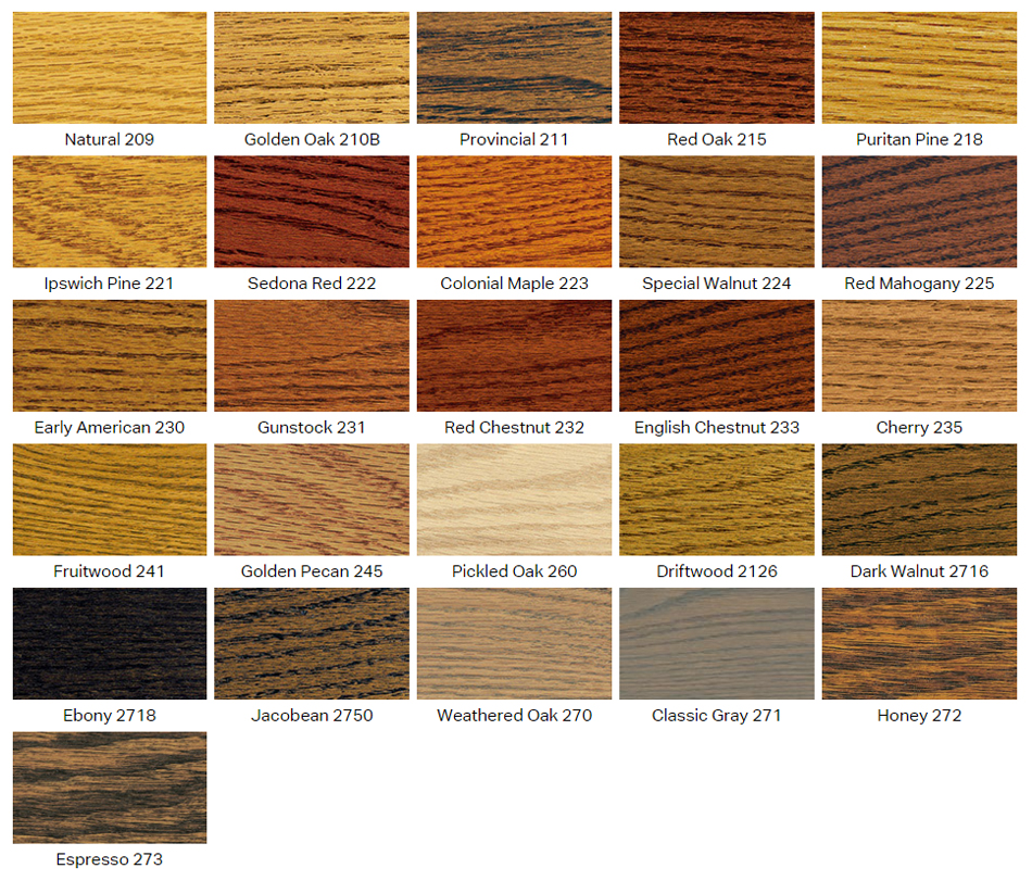 stain finish options for custom wood displays