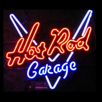 Hot Rod Garage Neon Bar Sign