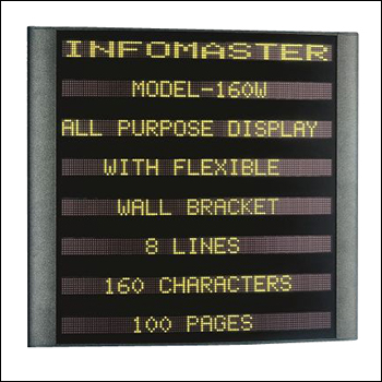 Wall Mounted 8-Line Electronic Message InfoCenter Sign