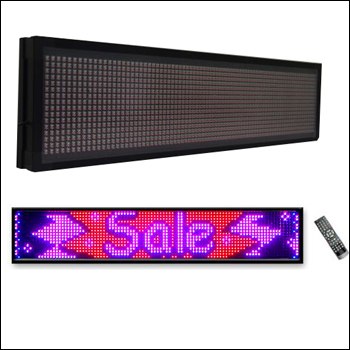 Multi-Color LED Electronic Banner - Wall Mounted