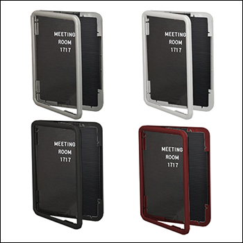 Multiple Finish Frame Option Letterboard with Locking Door