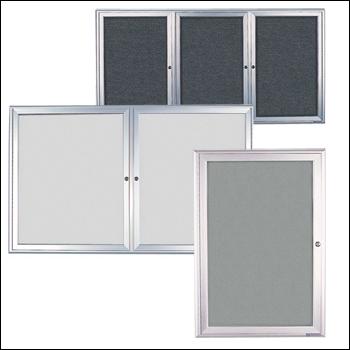 Aluminum Frame EZ TACK Boards with Hinged Locking Doors - Multiple Sizes