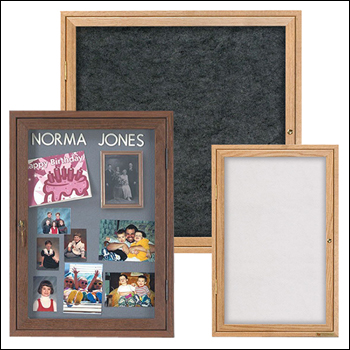 Wood Frame EZ TACK Boards with Hinged Locking Doors - Multiple Sizes