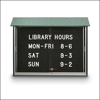 Indoor / Outdoor Sliding Glass Door LetterBoard Message Center - Multiple Sizes