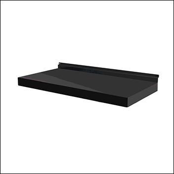 Metal Slatwall Shelves - Black