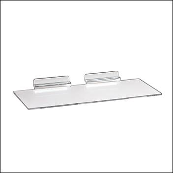 Slatwall Injection Molded Styrene Shoe Shelf