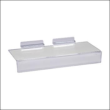 "Slatwall Injection Molded Styrene Shoe Shelf w/ 1""H Sign Slot"