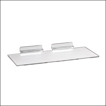 Slatwall Injection Molded Styrene Utility Shelf