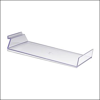 Slatwall Injection Molded Styrene Slanted Cap Shelf w/ Front Lip