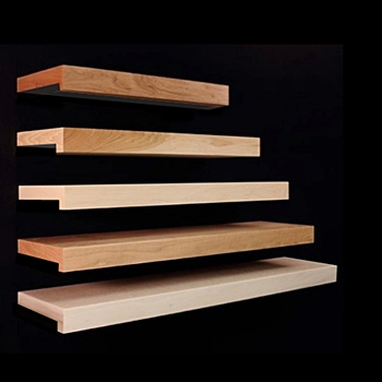 Standard Stained Wood or Laminate Shelving - Multiple Options