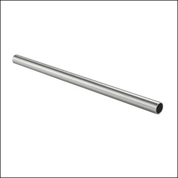 "Brush Chrome Round Hangbar 1 1/4"" Diameter"