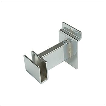 """3"""" Bracket for Rectangular Tubing - Chrome"""