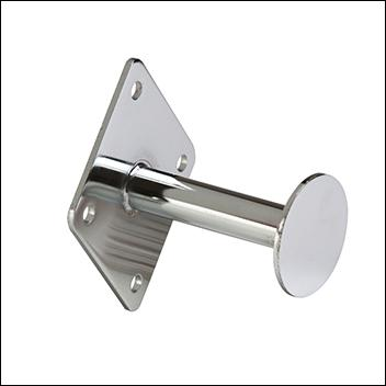 "3""L Dressing Room Hook w/ Disk End - Chrome"