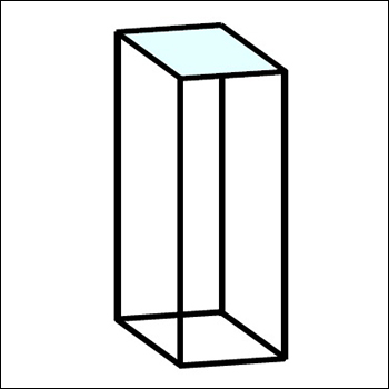 Standard Abstracta Display Pedestal with Glass Top - Multiple Sizes