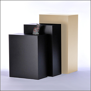 Standard Rectangular Pedestal Displays - Multiple Finish & Size Options