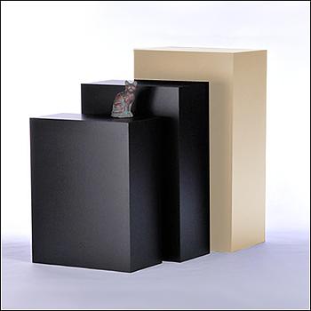 Standard Rectangular Pedestal Displays - Multiple Finish & Size Options