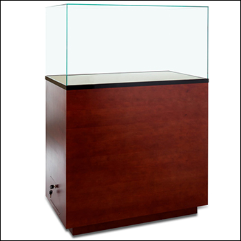 Premium Museum Rectangular Pedestal Showcase