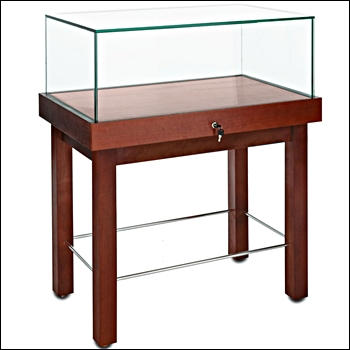 Premium Museum Rectangular Pedestal Showcase With Legs