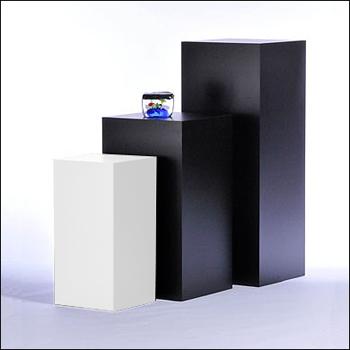 Standard Square Pedestal Displays - Multiple Finish & Size Options