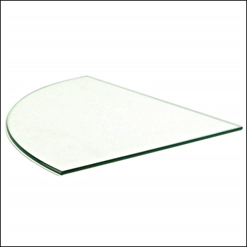 Clear Tempered Quarter Round Glass for Binning