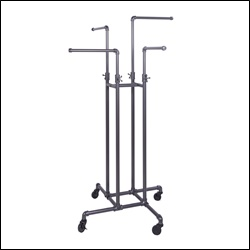Pipe 4-Way Adjustable Arms Rack