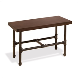 Pipeline Small Display Table with Top