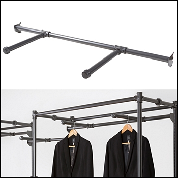 "Two 12"" Faceouts on (1) Bar for Free Standing Wall Merchandiser"