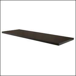 Pipe Outrigger Shelf - Black Melamine Finish
