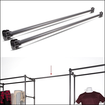"Pipe Free Standing Wall Merchandiser  - 48"" Extension Connectors"