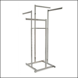 4-Way Hi-Capacity w/ Rectangular Straight Arms - Chrome