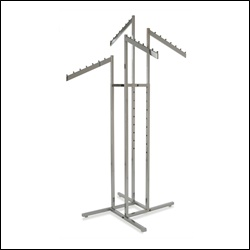 4-Way Rack w/ 4 Rectangular Tubing Slant Arms - Chrome