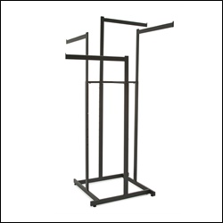 4-Way Hi-Capacity w/ Rectangular Straight Arms Matte Black