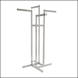 4-Way w/ Extendable Arms - Rectangular Tubing - Chrome