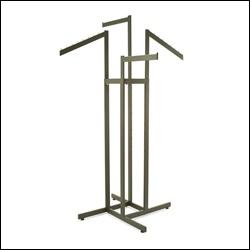 4-Way w/ 2 Straight and 2 Slant Arms - Rectangular Tubing - Raw Steel