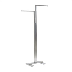 2-Way Rack with Adjustable Arms - Satin Chrome