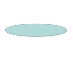 "30"" Diameter Glass Shelf Topper for Round Racks - 2 PACK"