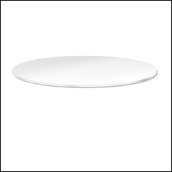 "30"" Diameter White Melamine Shelf  Topper for Round Racks"