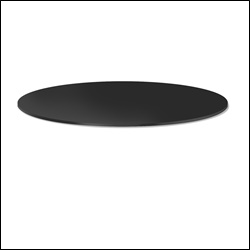 "30"" Diameter Black Melamine Shelf Topper for Round Racks"