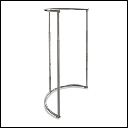 "43"" dia Half-Round Rack - Chrome"