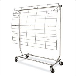 Shelf/Display Screen for Collapsible Salesman Racks