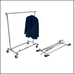 Collapsible Salesman's Garment Rack - Square Tubing