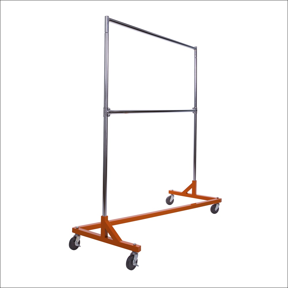 Economy Z-Rack with Orange Base Includes Add-On Bar