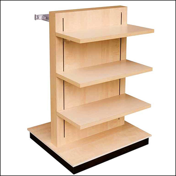 2-Way T-Unit Retail Fixture with Recessed Standards