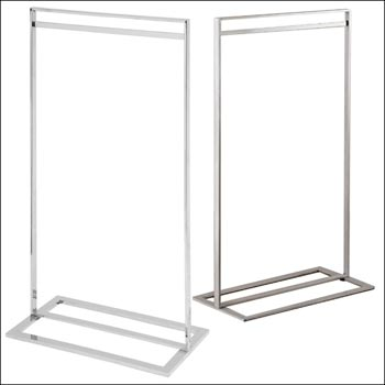 Single Bar Clothing Rack - Multiple Finish Options