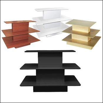 Economy Rectangular 3-Tier Table with Multi-Finish Options