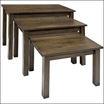 Poplar Wood Nesting Tables - Set of 3
