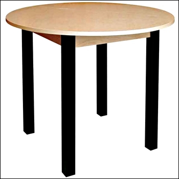 Premium Real Wood Round Table - Multiple Size and Finish Options