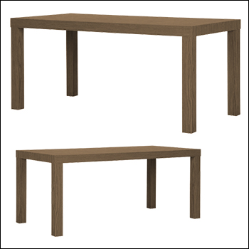 Retail Parsons Table - Multiple Finish and Size Options