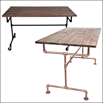 Urban Industrial Nesting Tables - Brass or Black Frame Options